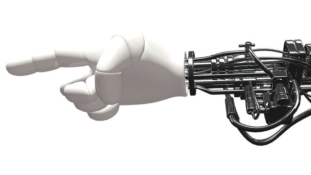 robot hand depicting the machine learning process